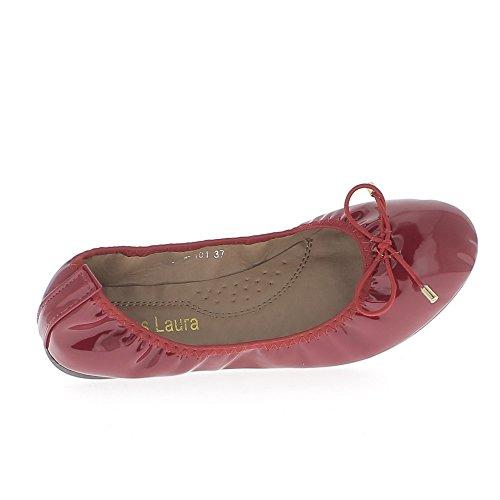 ChaussMoi Bailarinas rojas pintadas con nodo