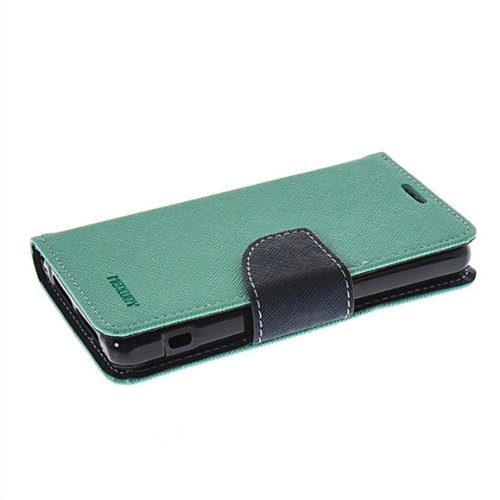 2 opinioni per z1 mini Custodia,COOLKE [Menta] Flip Case Cover Due Colori Style Design in Pelle