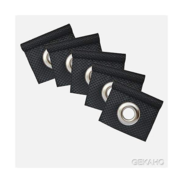 41lPrUJ7RtL GeKaHo 5 x Kederöse für Kederschiene weiß/schwarz D=7,5 mm Camping Öse Kederband Vorzeltkeder