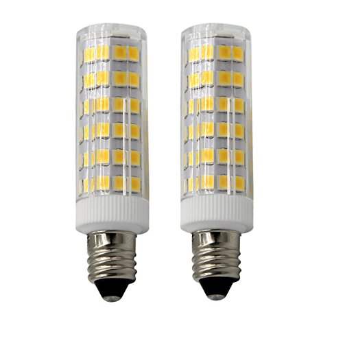 E11 LED Bulbs-Mini Candelabra Base, 55-Watt T4 E11 Halogen Bulb, 120 Volt,Soft White, Replaces T4 /T3 JD Type Clear E11 Light Bulb (Pack of 2)