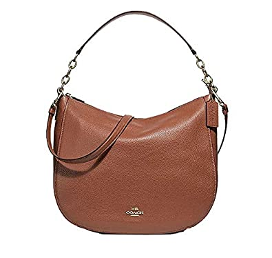 half off limited quantity great deals on fashion Amazon.com: Coach Leather Elle Crossbody Hobo Purse in ...