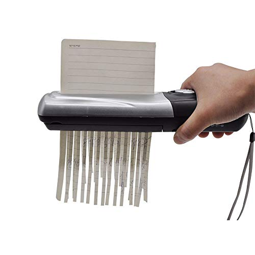Handheld Portable Shredder Mini Office Supplies USB Battery Dual-Purpose Electric Crusher for Desktop File/Paper Inlet Size 123mm / Support Paper A6 Document or A4 Document fold/Support Paper thic