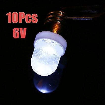 Goodchanceuk 10/pcs E10/Indicateur Ampoule /à visser 6/V//12/V Instrument froid Caution lampe avec 5/pcs E10/Socket Base pour gratuit