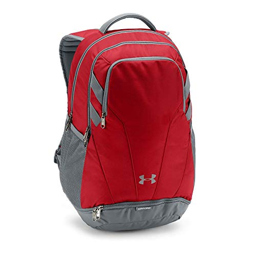 Under Armour Team Hustle 3.0 Backpack, Red (600)/Gray, One Size Fits All ()