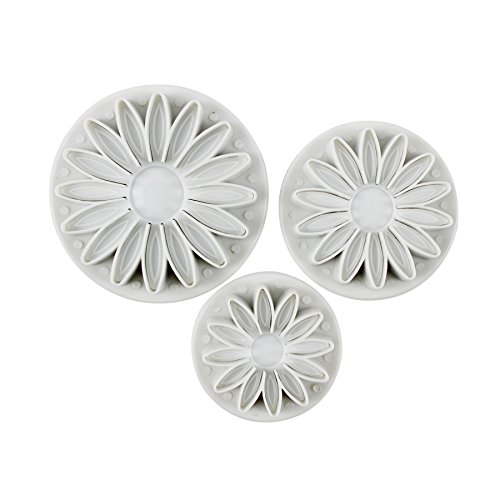 Verdental 3-pieces DIY Cake Plunger Cutter Molds Sugarcraft Cake Decorating, Sunflower ()