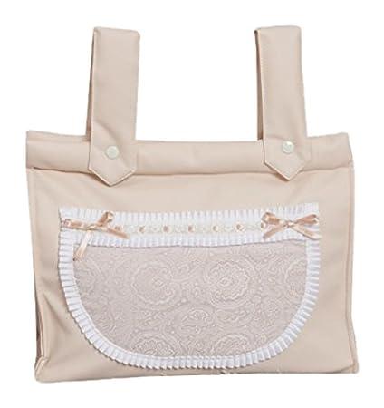 Babyline Bombón - Bolso panera para silla de paseo, color beige