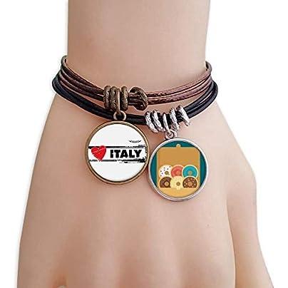 SeeParts Love Italy Word Love Heart Illustration Bracelet Rope Doughnut Wristband Estimated Price £9.99 -