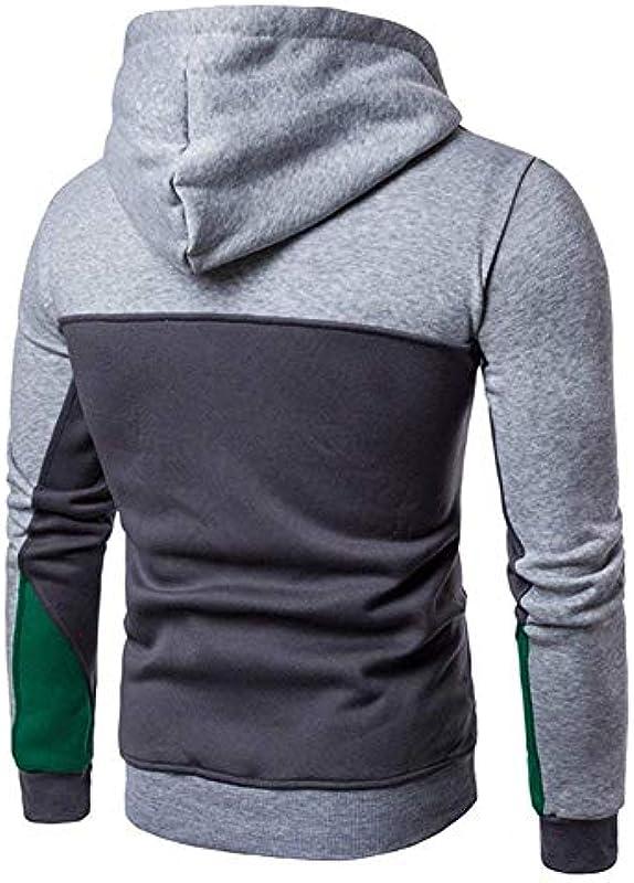 Męska bluza sweter z kapturem sweter chłopięcy bluza z kapturem bluza z długim rękawem wygodny rozmiar patchwork outwear bluza z kapturem sweter sweter czerwony niebieski jasnoszary ciemnoszary ubrani
