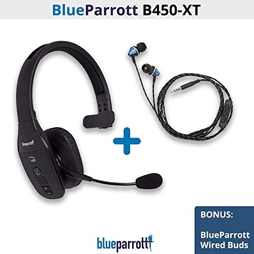 VXi BlueParrott B450-XT 204010 Noise Cancelling Bluetooth Headset B450-XT with Free Wired Ear Buds