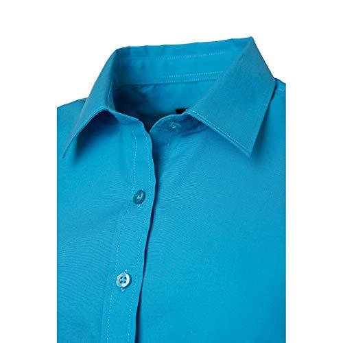 Chemise Turquoise JAMES amp; Classique XXL Popeline NICHOLSON avec Finition Easy Care Femme tPSwqFP