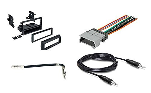 - Radio Stereo Install Single Din Dash Kit + wire harness + antenna adapter for Toyota Matrix 2003 2004 and Pontiac Vibe 2003 2004 2005 2006 2007 2008