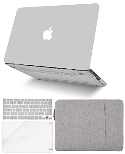"""KECC Laptop Case for MacBook Air 13"""" w/Keyboard Cover + Sleeve + Screen Protector (4 in 1 Bundle) Plastic Hard Shell Case A1466/A1369 (Stone Grey)"""