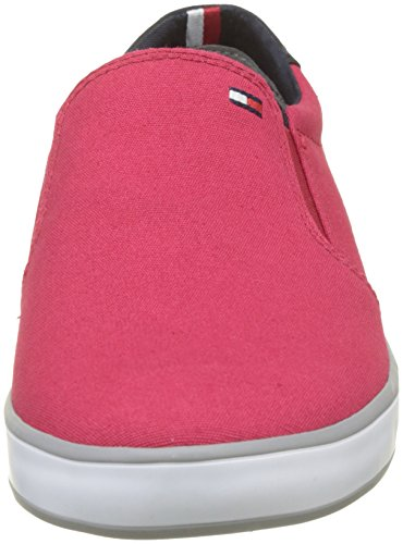 On Tommy 611 Red Para Zapatillas Hilfiger tango Hombre Slip Iconic Rojo Sneaker CCFq7