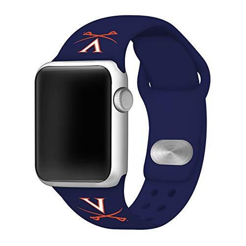 (Affinity Bands Virginia Cavaliers Silicone Sport Band Compatible with Apple Watch - 42mm)