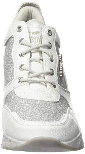 Weiß 301 weiß Femme silber 1319 121 121 Baskets Mustang q6gwaXn