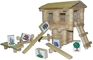 product image for Play Green, Natural Wood Playset Club House 100 Pcs.