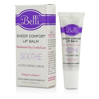 Belli Sheer Comfort Lip Balm – SoothesMoistures Dry, Cracked Lips – OB/GYN Specifically Designed for Expecting Moms – Hypoallergenic and Dermatologist Recommended – 0.3 oz (Soothing Comfort Balm)