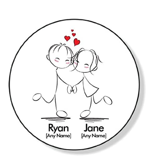 Personalised Round Coaster I Love You Coaster Dancing Couple A