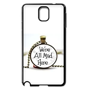Customized We are all mad here Cell Phone Case for Samsung Galaxy Note 3 N9000 with The pocket watch yxuan_4219938 at xuanz hjbrhga1544