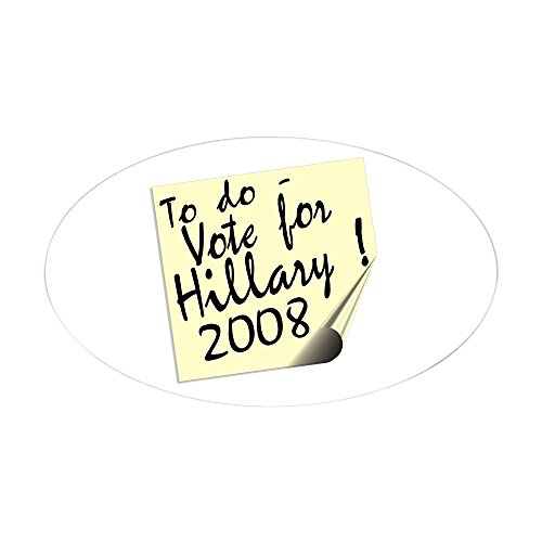 Euro 2008 Shirts (CafePress - Vote Hillary Clinton Reminder Oval Sticker - Oval Bumper Sticker, Euro Oval Car Decal)