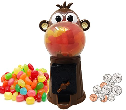 "Playo Monkey 7.5"" Coin Operated Children Gumball Machine Toy"