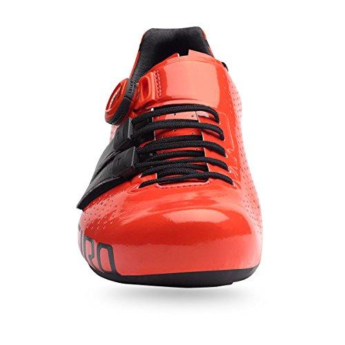Giro Factor techlace 17–Zapatos de ciclista Rojo/Negro