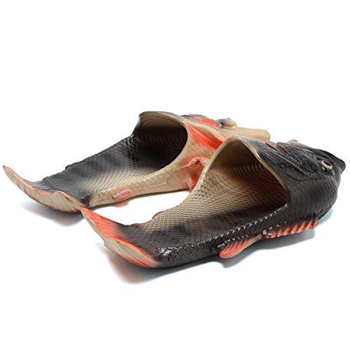 Slide For Unisex Women CIOR Beach Sandals Slip Skid Slippers on Men Black Anti Toe Open Fish Kids v7xw7On1Cq
