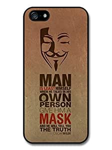 AMAF ? Accessories Anonymous Mask The Truth Oscar Wilde Life & Love Inspirational Quote case for iPhone 5 5S
