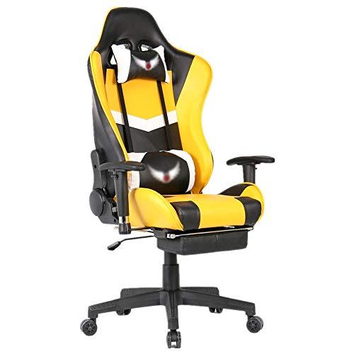 Liuzecai Presidente de Juego Heavy Duty de Descanso de Respaldo Alto de Ministerio del Interior del Escritorio del Ordenador Silla sillas Gaming Silla de Oficina Ordenador