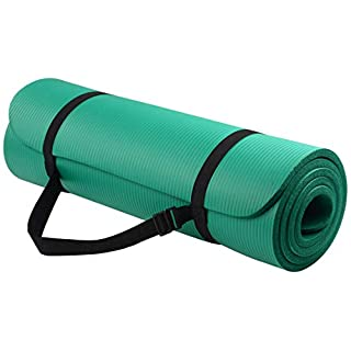 BalanceFrom Go Yoga All Purpose Anti-Tear Exercise Yoga Mat with Carrying Strap, Green, One Size (BFGY-AP6GR)