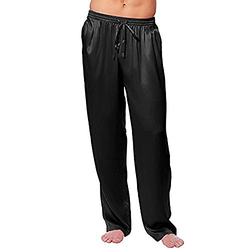 Magic Silk Silk Charmeuse Lounge Pant (Black) (Silk Charmeuse Pants)