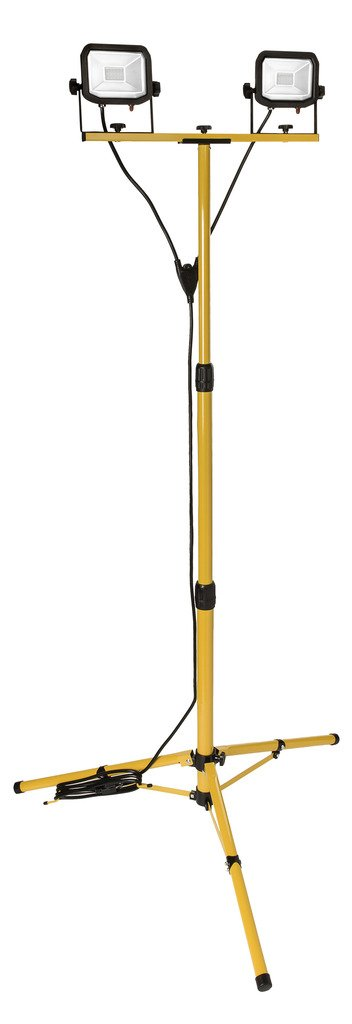 Slimline Portable Tripod LED Outdoor Worklight - 2 x 30W - Large