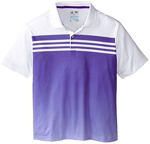 Adidas 2015 Boy's Climacool 3 Stripes Gradient Polo Shirt