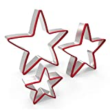 FASAKA 3pc Stainless Steel Large Star Cookie Cutters Set, Food Grade  Deal (Small Image)