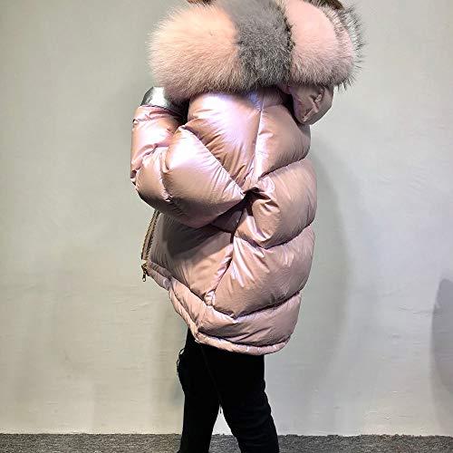 Fourrure Bas Manteaux De Femmes Vers Veste D'hiver Lja Pink Renard Naturel Le iuOkZlXTwP