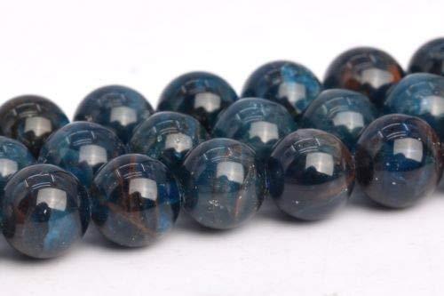 6-7mm Genuine Natural Dark Blue Apatite Grade Round Gemstone Loose Beads 15'' Crafting Key Chain Bracelet Necklace Jewelry Accessories Pendants ()