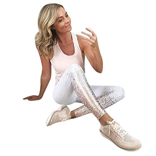 (2019 Latest Hot Style! Teresamoon Women's Fashion Workout Leggings Fitness Sports Gym Running Yoga Athletic Pants)
