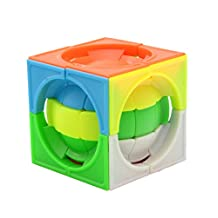 FangShi LimCube Deformed 3x3x3 Centrosphere Stickerless Cube Puzzle - Twist Cube Puzzles, Smart Brain Teaser Toy Game for Kids Gifts (Colored)