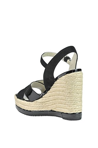 Women's Hogan Suede Black Wedges MCGLCAT03113E rr7dtq