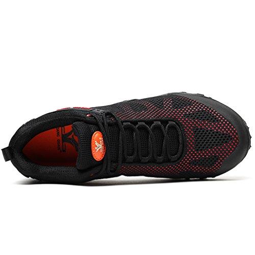 Chaussures Respirant Dames Road Casual Footwear Top Sports Randonnée Camping rouge Femmes Mesh XIANG Lace Noir Trekking up Low Off GUAN Sneakers Outdoor Running vwngzqfx