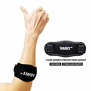 Best Tennis Elbow Brace For Tendonitis Arm Brace Compression Pad Straps Therapeutic Forearm Band Shock Absorber Wrist Tool Pain Relief Adjustable Prevents Elbow Support For Tendonitis (1 Piece)