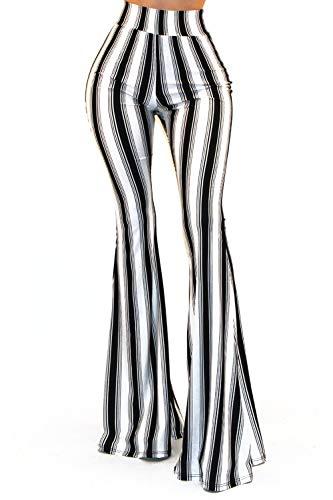 Vivicastle Women's Boho Solid Hippie Wide Leg Flared