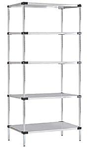 18 deep x 30 wide x 74 high 5 tier. Black Bedroom Furniture Sets. Home Design Ideas