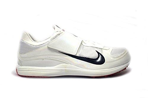 Nike Mens Rivaal D Iv Atletiek Schoenplaten Wit / Obsidian-sport Rood