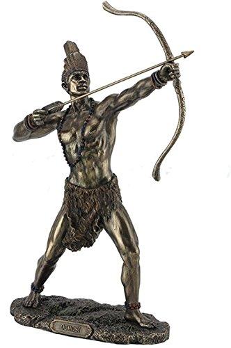 11 Ochosi Statue Divine Hunter Warrior Sculpture African Orisha Santeria Santo