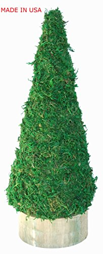 Moss Form Topiary (Christmas Tree Cone Green Moss Topiary Form - Small)