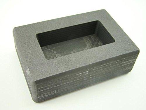 100 Gram Ag Silver Bar High Density Graphite Ingot Mold Loaf Rectangle Made in The USA