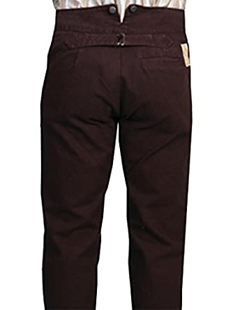 Victorian Men's Pants – Victorian Steampunk Men's Clothing Wahmaker Canvas Pants  AT vintagedancer.com