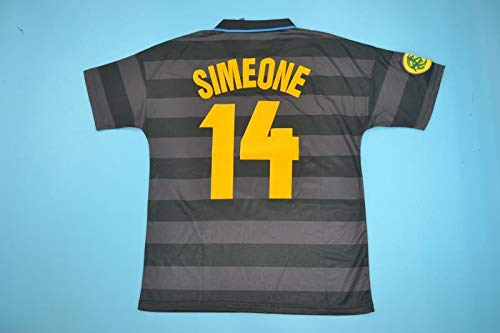 Brook Simeone#14 Inter Milan Away Retro Soccer Jersey 1997-1998 ...