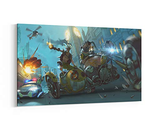 "Overwatch Roadhog Junkrat Canvas, Poster, Print, Wall Art N.002 (1-Panel 36""x20"") -  ArtsyPrintStudio"